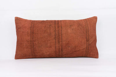 Plain Brown Kilim Pillow Cover 12x24 4184 - kilimpillowstore  - 1