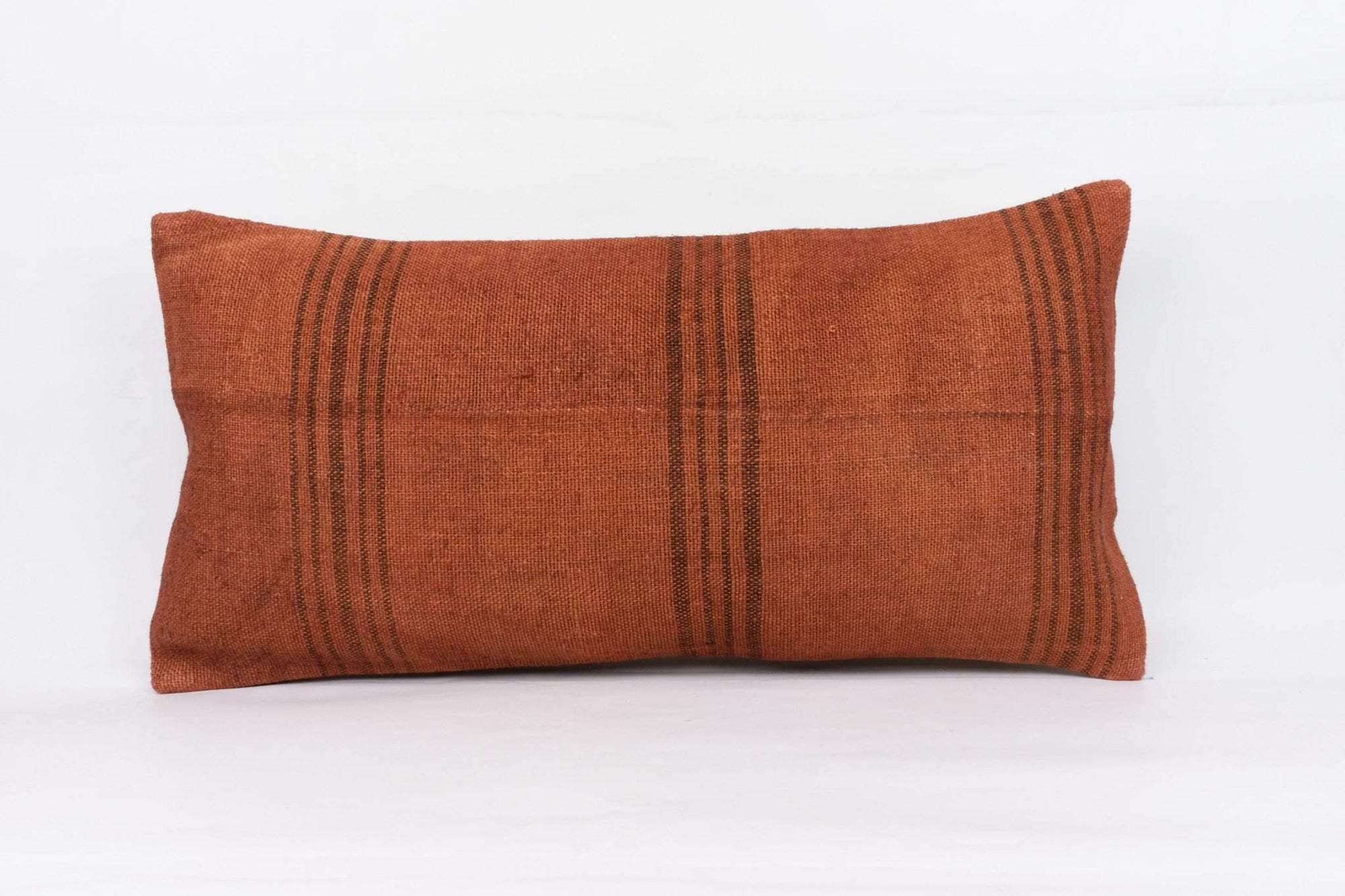 Plain Brown Kilim Pillow Cover 12x24 4186 - kilimpillowstore  - 1