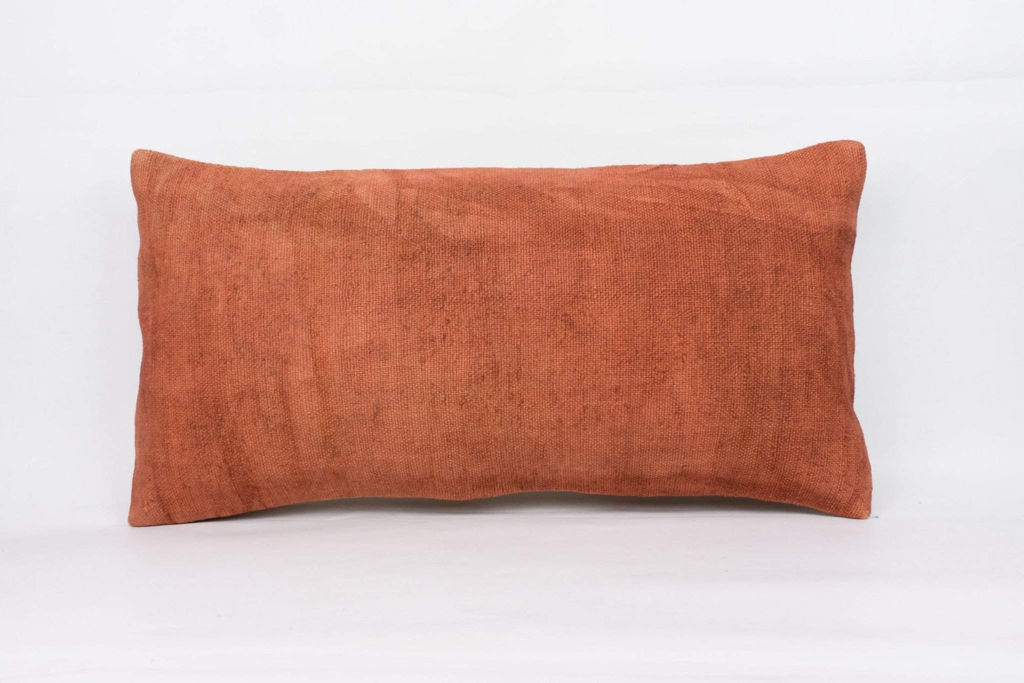 Plain Brown Kilim Pillow Cover 12x24 4188 - kilimpillowstore  - 1