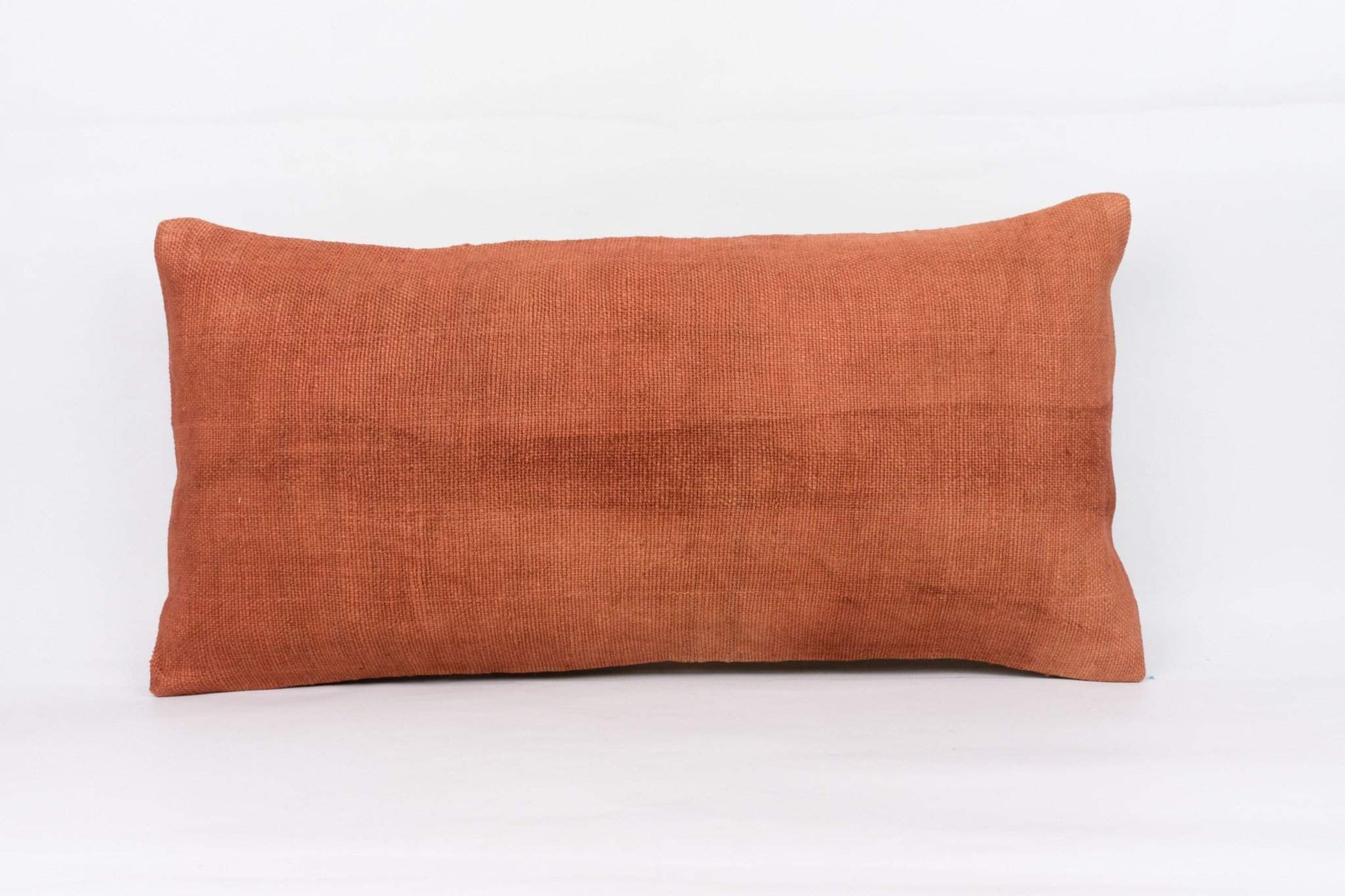 Plain Brown Kilim Pillow Cover 12x24 4189