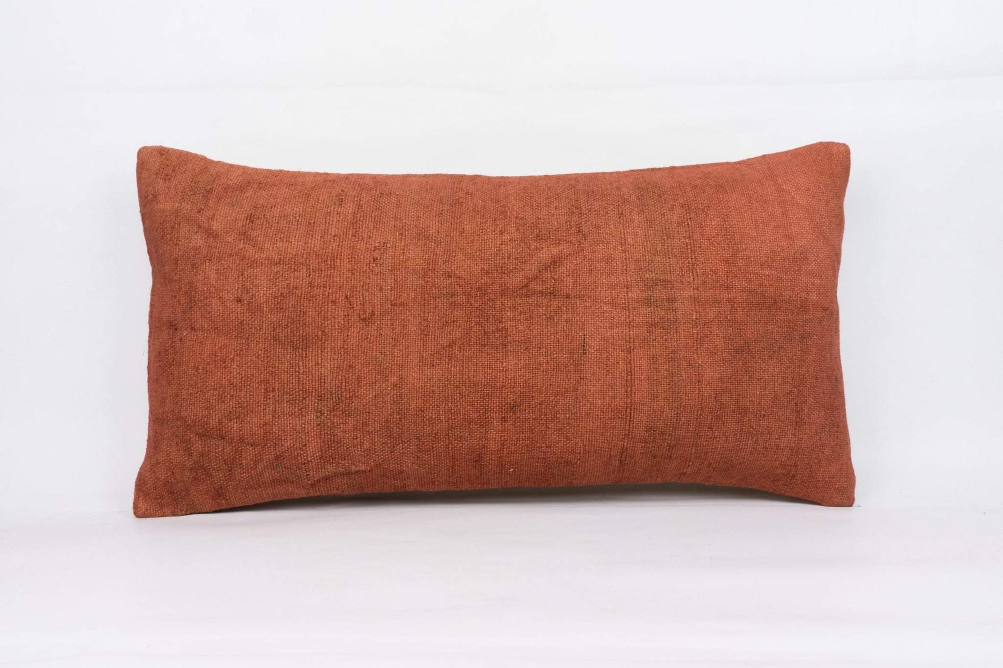 Plain Brown Kilim Pillow Cover 12x24 4192 - kilimpillowstore  - 1