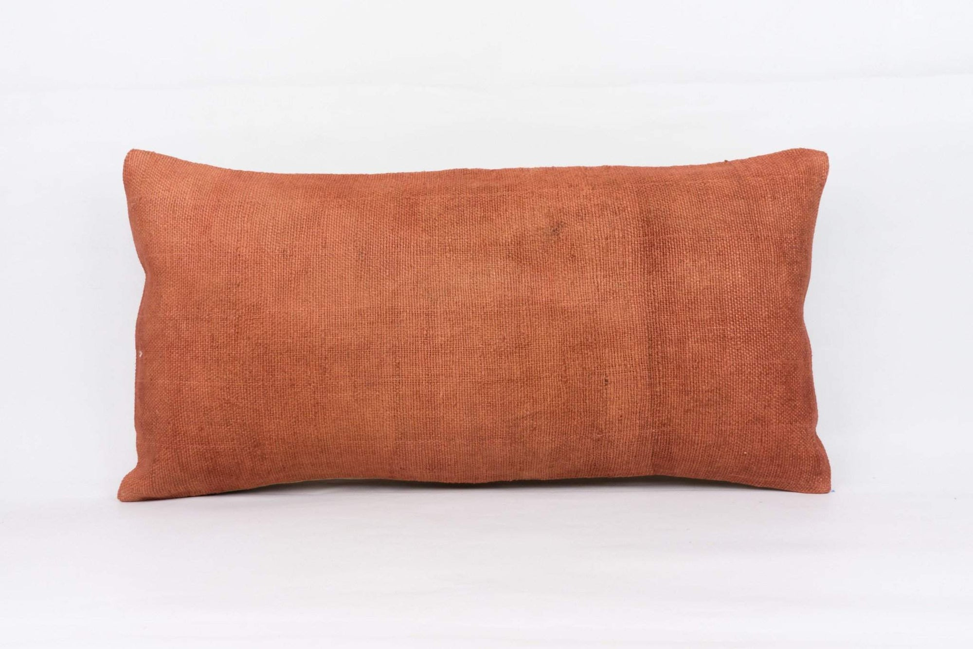 Plain Brown Kilim Pillow Cover 12x24 4195 - kilimpillowstore  - 1