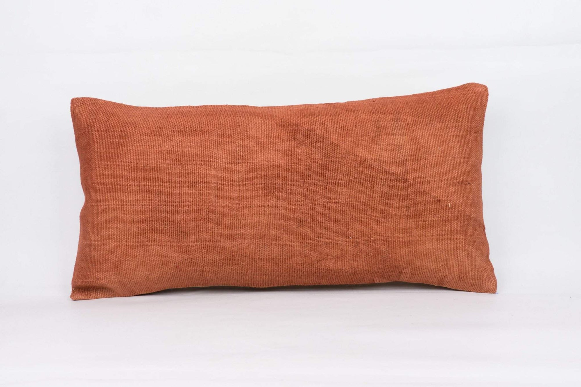 Plain Brown Kilim Pillow Cover 12x24 4196 - kilimpillowstore  - 1