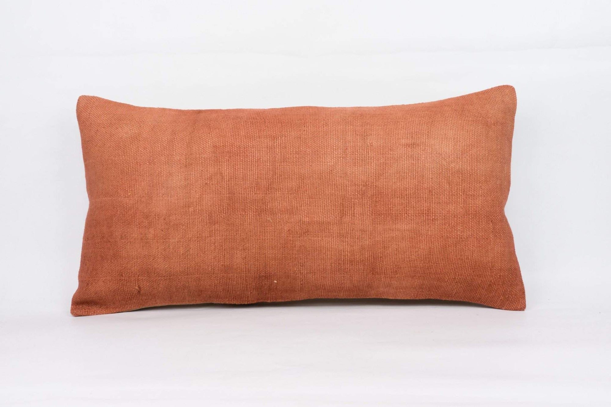 Plain Brown Kilim Pillow Cover 12x24 4198 - kilimpillowstore  - 1