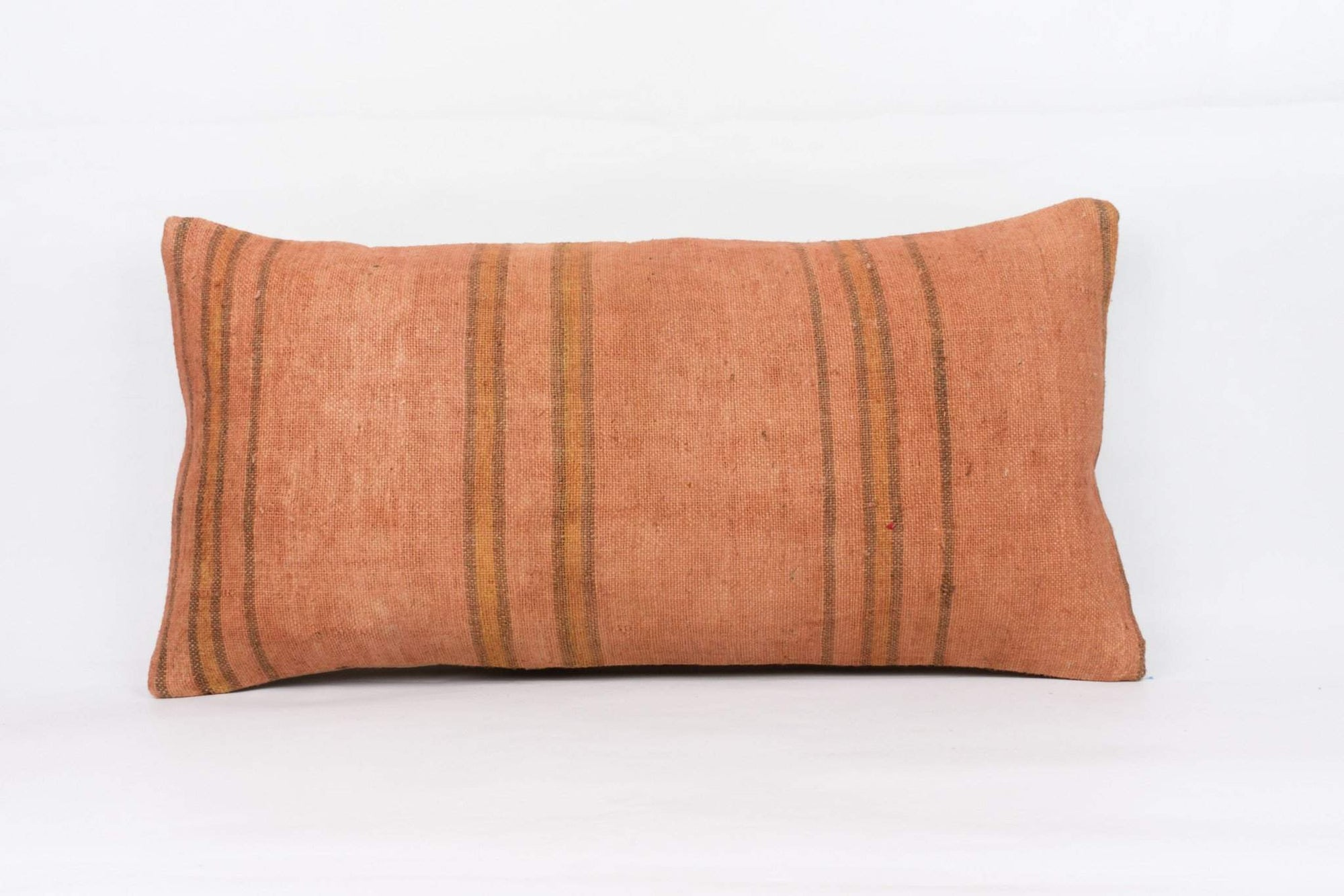 Plain Brown Kilim Pillow Cover 12x24 4199 - kilimpillowstore  - 1