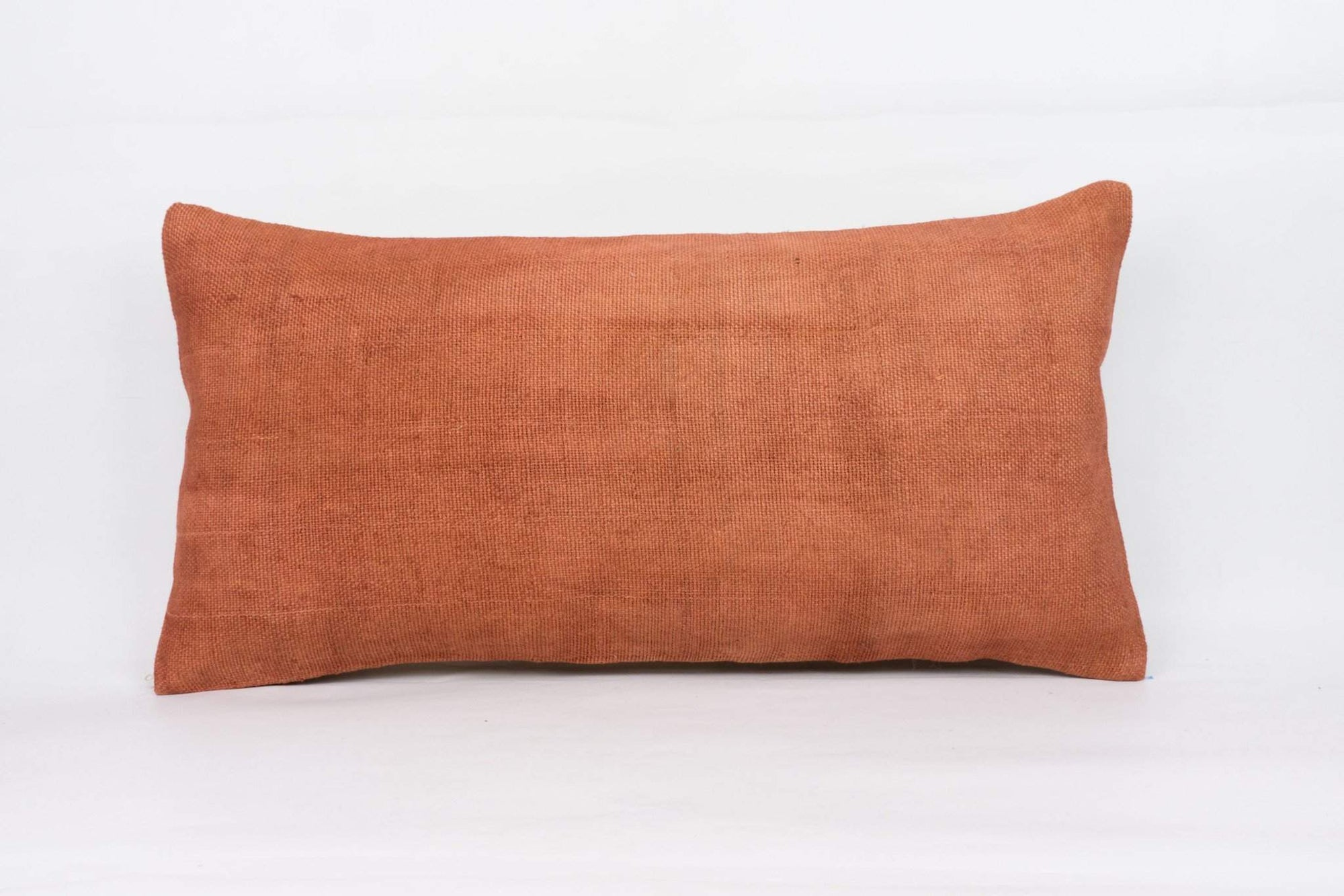 Plain Brown Kilim Pillow Cover 12x24 4207 - kilimpillowstore  - 1