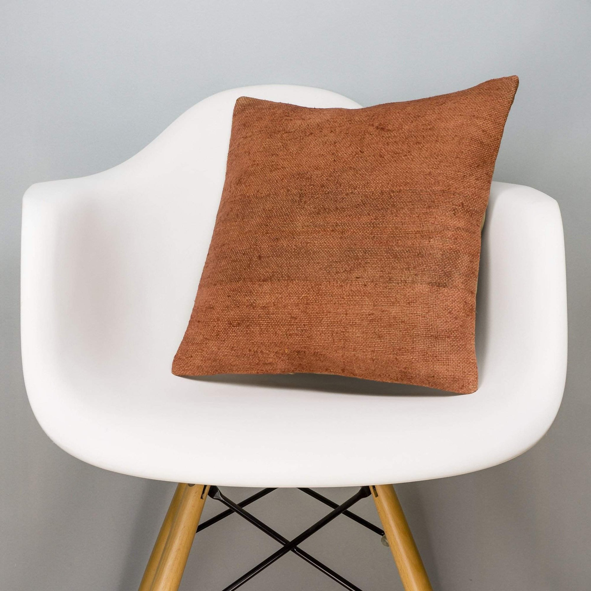 Plain Brown Kilim Pillow Cover 16x16 2923 - kilimpillowstore