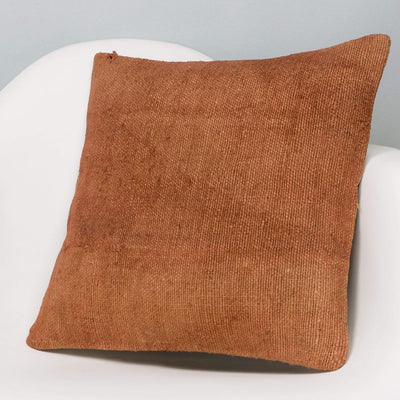 Plain Brown Kilim Pillow Cover 16x16 2926 - kilimpillowstore