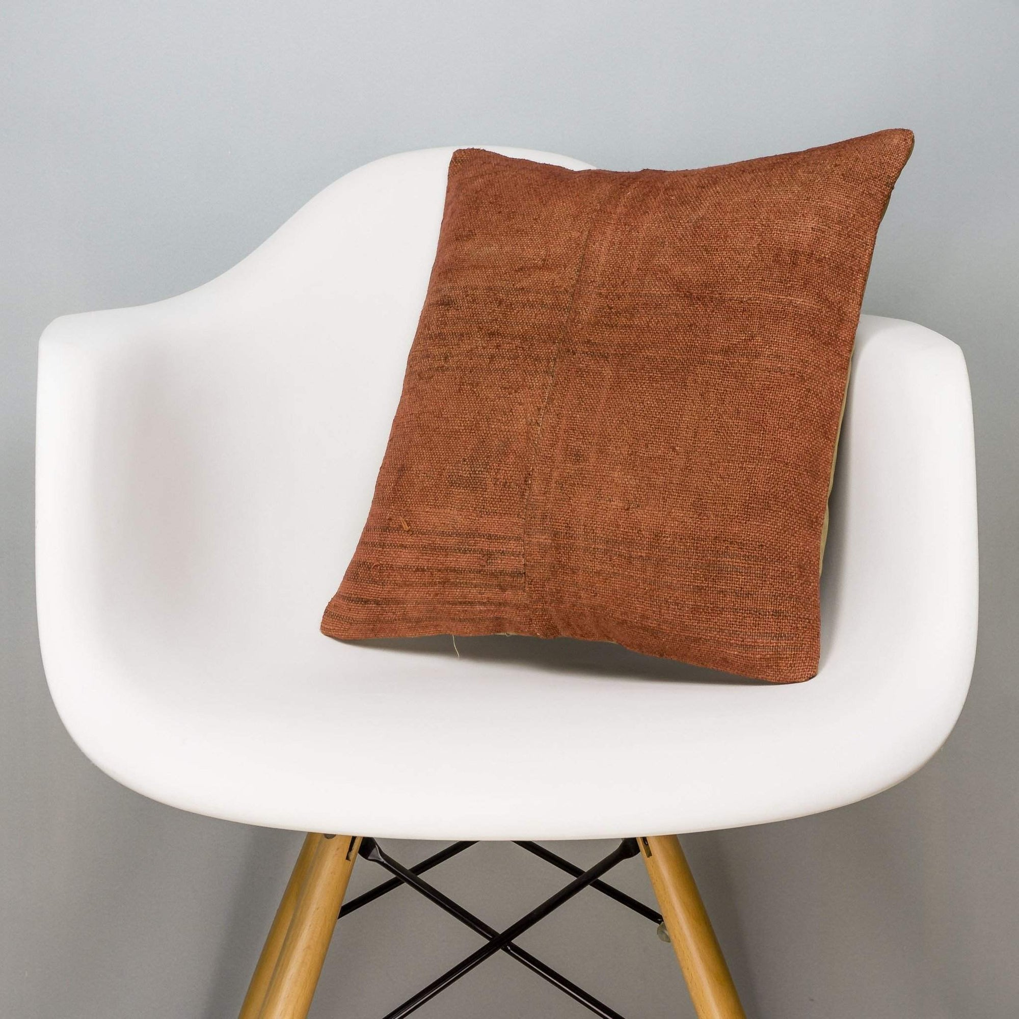Plain Brown Kilim Pillow Cover 16x16 2928 - kilimpillowstore