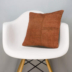 Plain Brown Kilim Pillow Cover 16x16 2941 - kilimpillowstore
