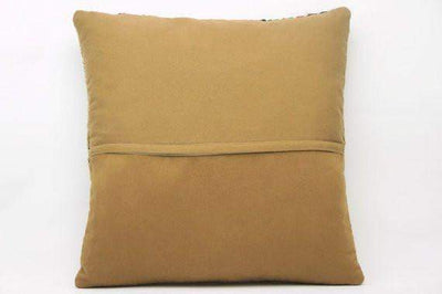 Plain Brown Kilim Pillow Cover 16x16 2951 - kilimpillowstore