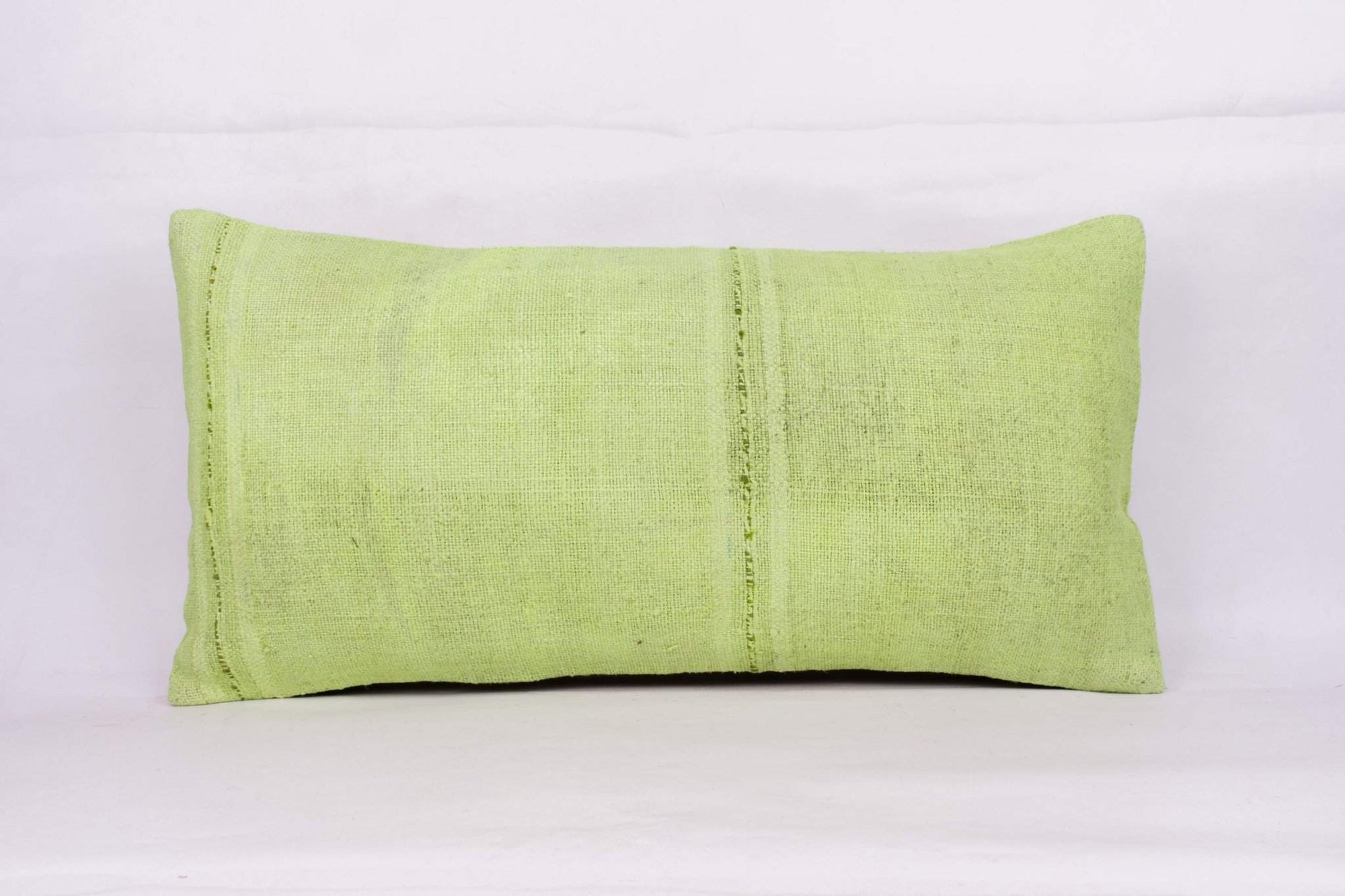Plain Green Kilim Pillow Cover 12x24 4120 - kilimpillowstore  - 1