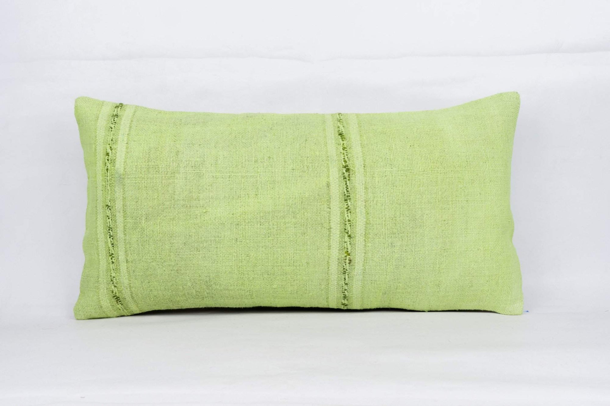 Plain Green Kilim Pillow Cover 12x24 4123 - kilimpillowstore  - 1