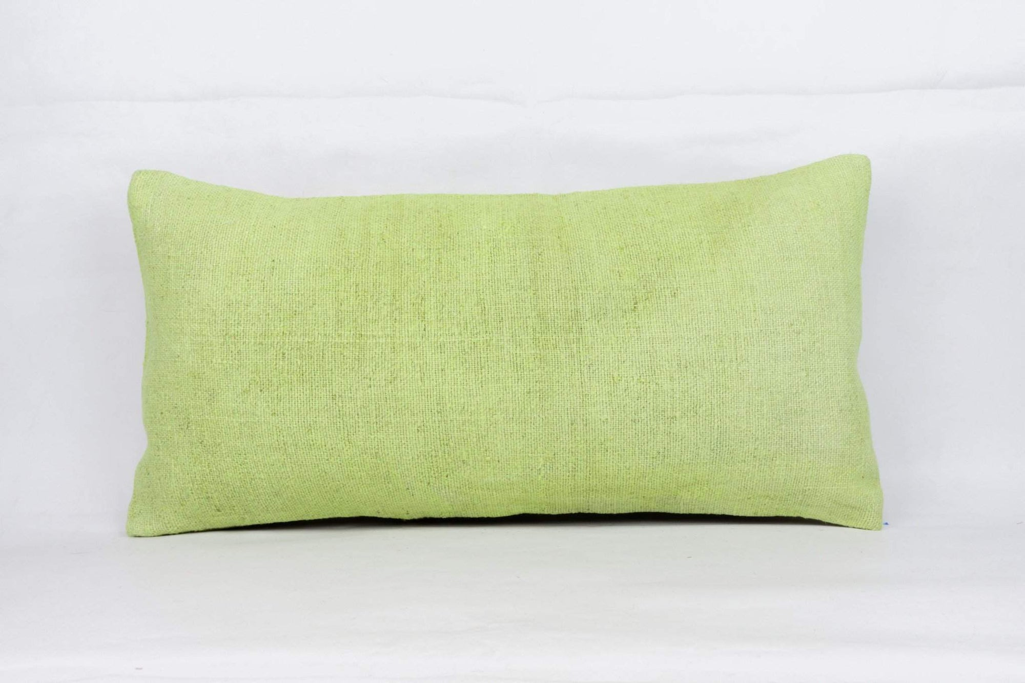 Plain Green Kilim Pillow Cover 12x24 4125 - kilimpillowstore  - 1