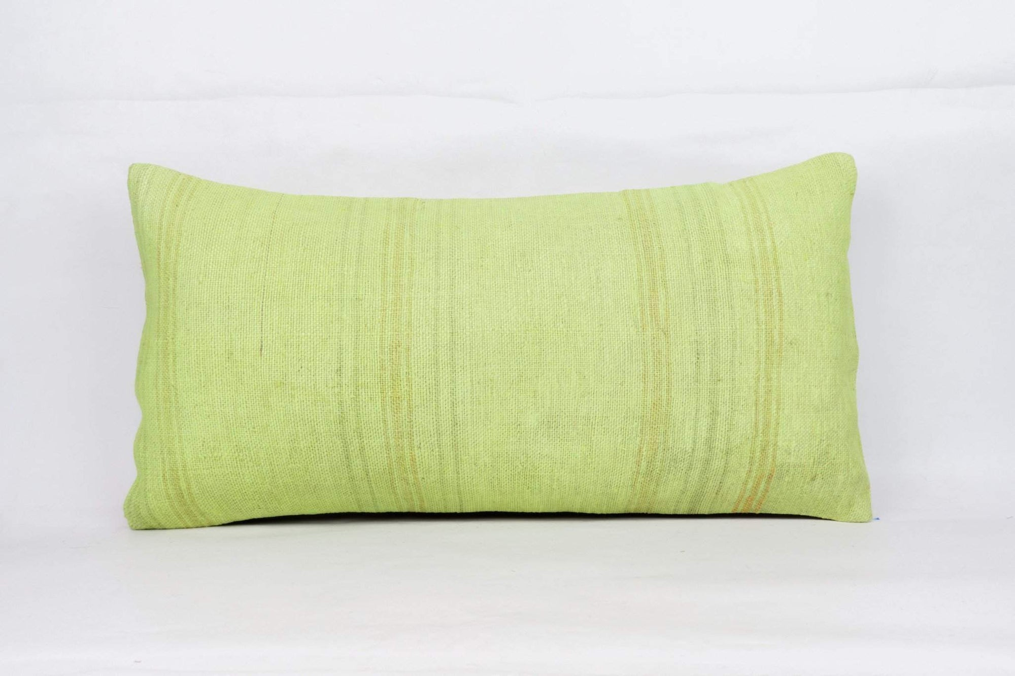 Plain Green Kilim Pillow Cover 12x24 4127 - kilimpillowstore  - 1