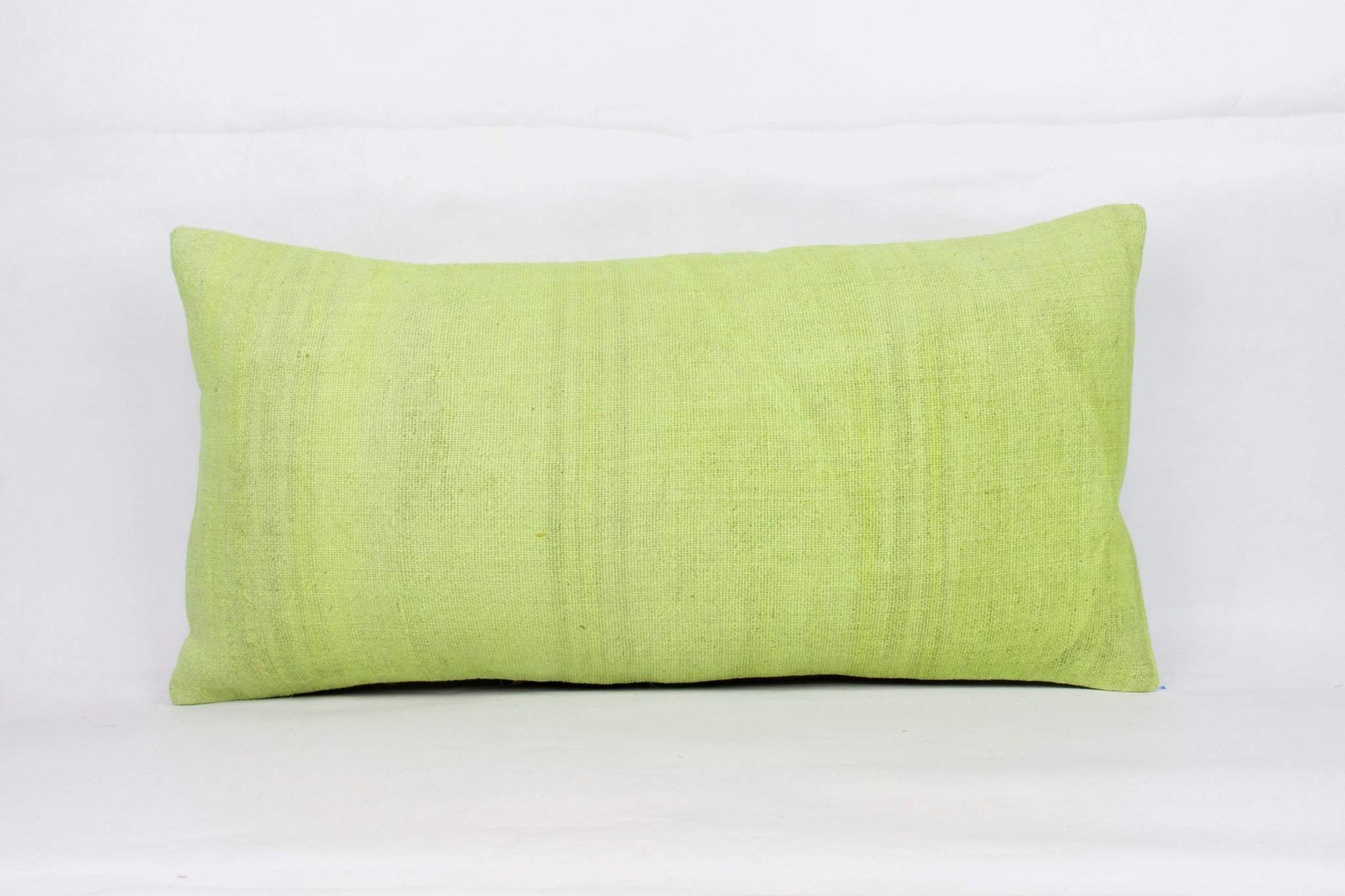 Plain Green Kilim Pillow Cover 12x24 4128 - kilimpillowstore  - 1