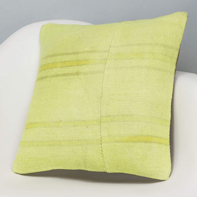 Plain Green Kilim Pillow Cover 16x16 2959 - kilimpillowstore