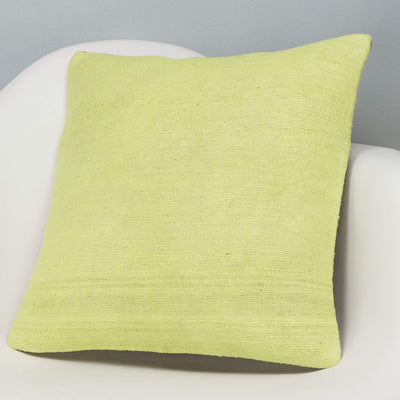 Plain Green Kilim Pillow Cover 16x16 2960 - kilimpillowstore