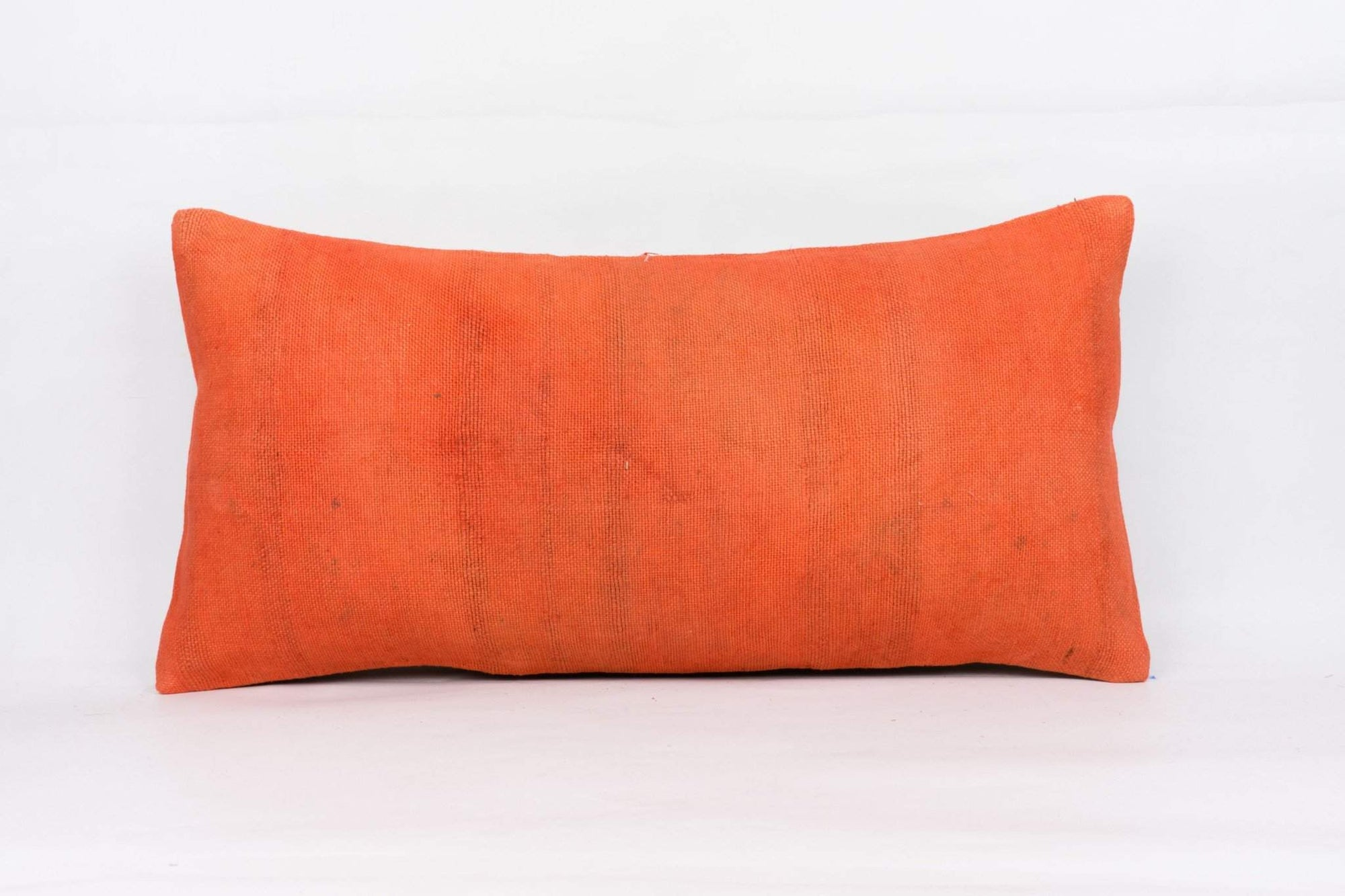 Plain Orange Kilim Pillow Cover 12x24 4162 - kilimpillowstore  - 1