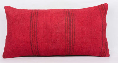 Plain Red Kilim Pillow Cover 12x24 4105 - kilimpillowstore  - 2