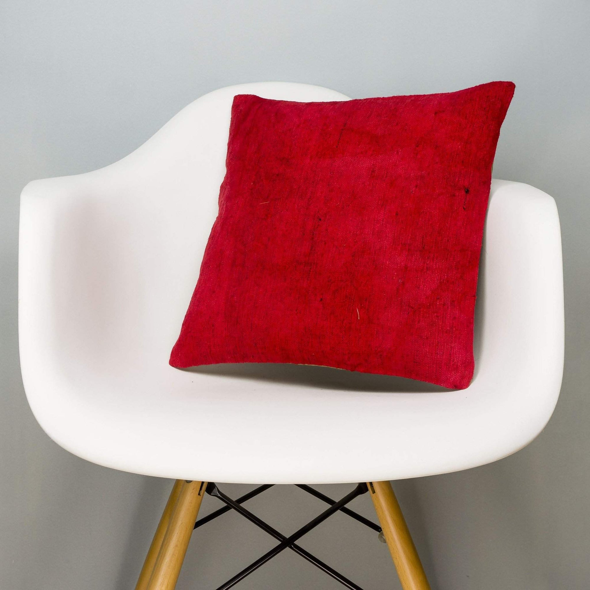 Plain Red Kilim Pillow Cover 16x16 2900