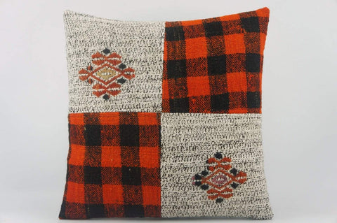 Red  Kilim pillow  , Red patchwork pillow  1496 - kilimpillowstore  - 1