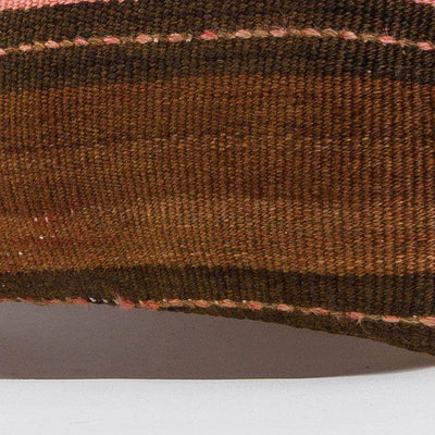 Striped_Brown_Kilim Pillow Cover_16x16_A0224_6522