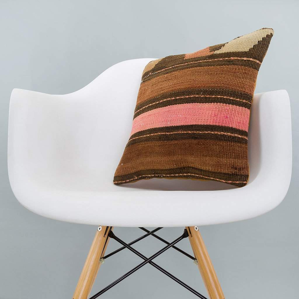 Striped_Brown_Kilim Pillow Cover_16x16_A0224_6526