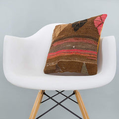 Striped_Brown_Kilim Pillow Cover_16x16_A0224_6532