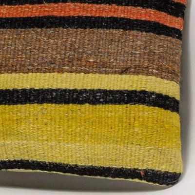 Striped Multi Color Kilim Pillow Cover 16x16 3268 - kilimpillowstore