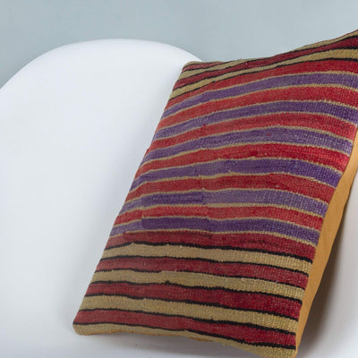 Striped_Multiple Color_Kilim Pillow Cover_16x16_A0241_6807
