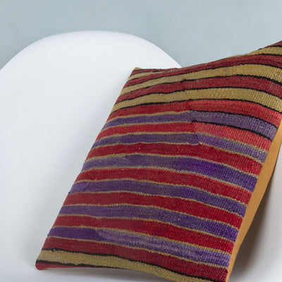 Striped_Multiple Color_Kilim Pillow Cover_16x16_A0241_6808