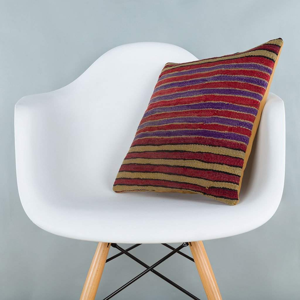 Striped_Multiple Color_Kilim Pillow Cover_16x16_A0241_6809