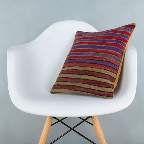 Striped_Multiple Color_Kilim Pillow Cover_16x16_A0241_6812