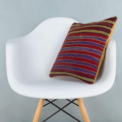 Striped_Multiple Color_Kilim Pillow Cover_16x16_A0241_6813