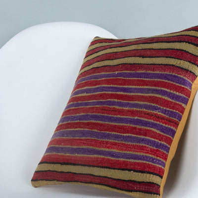 Striped_Multiple Color_Kilim Pillow Cover_16x16_A0241_6815