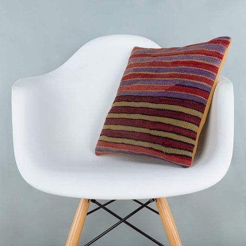 Striped_Multiple Color_Kilim Pillow Cover_16x16_A0241_6819