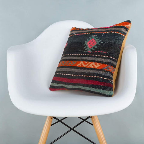 Striped_Multiple Color_Kilim Pillow Cover_16x16_A0246_6875