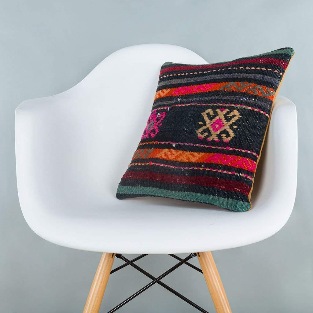 Striped_Multiple Color_Kilim Pillow Cover_16x16_A0246_6878