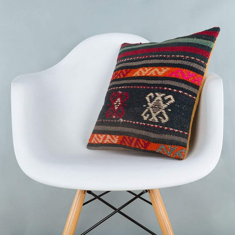 Striped_Multiple Color_Kilim Pillow Cover_16x16_A0246_6879