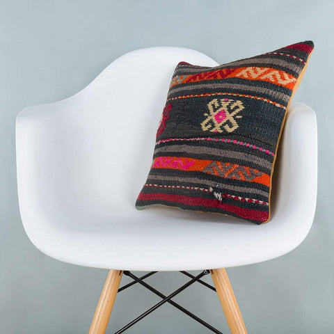 Striped_Multiple Color_Kilim Pillow Cover_16x16_A0246_6881