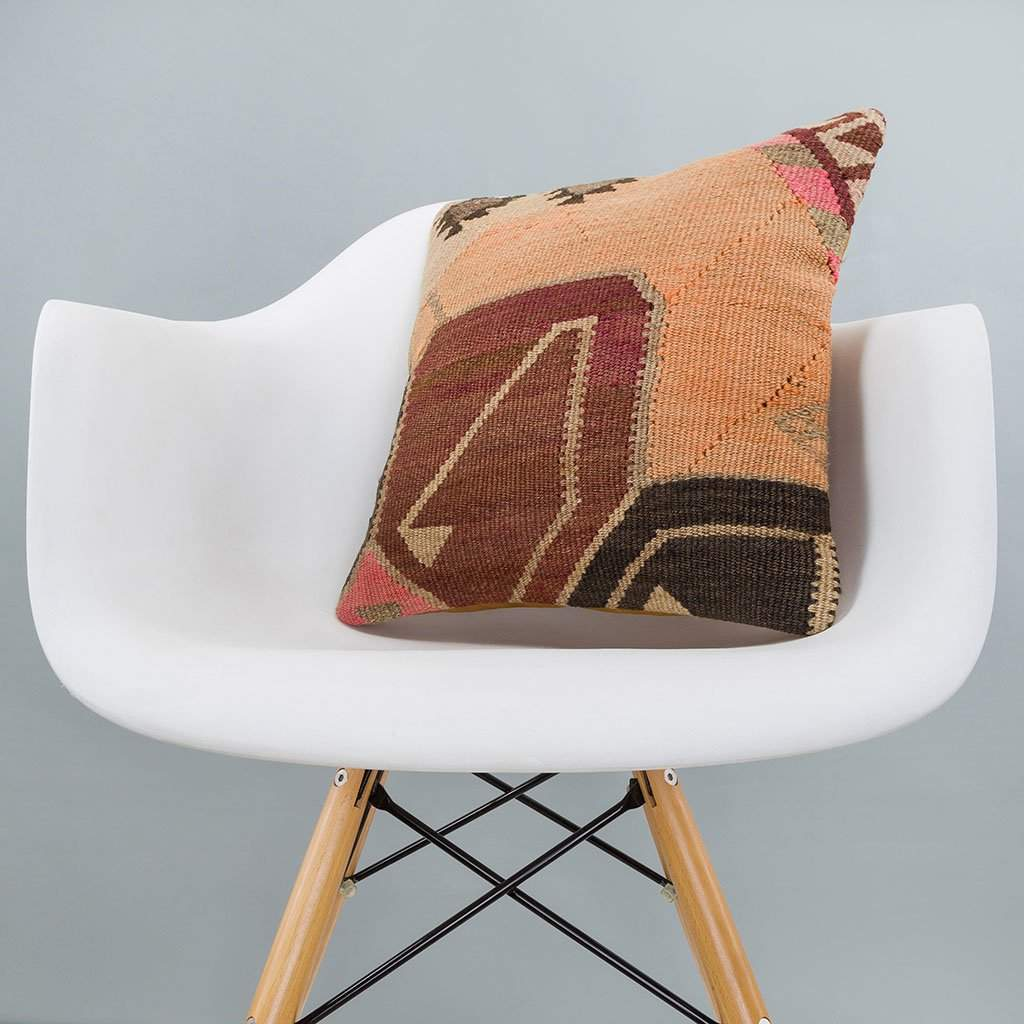Tribal Multiple Color Kilim Pillow Cover 16x16 6402