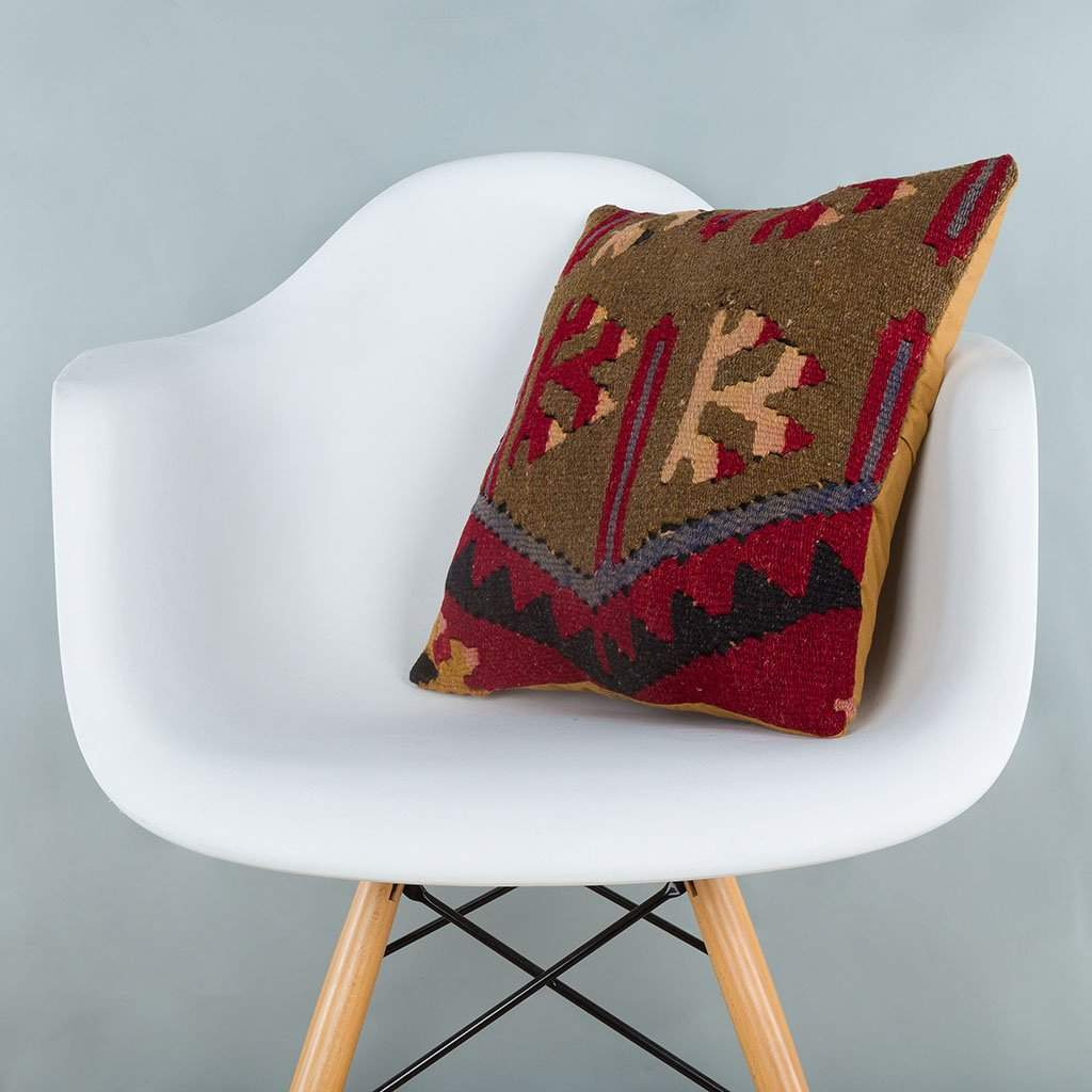 Tribal Multiple Color Kilim Pillow Cover 16x16 6959