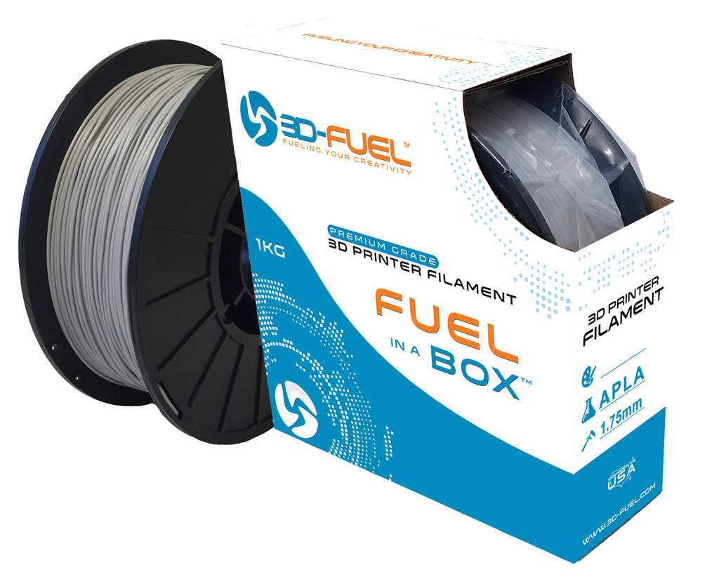 3D-Fuel ADVANCED PLA  (APLA) Industrial Gray Filament - 1 Kg