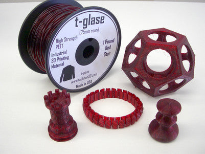 Taulman 3D T-Glase Red PETT Filament - 1 Lb