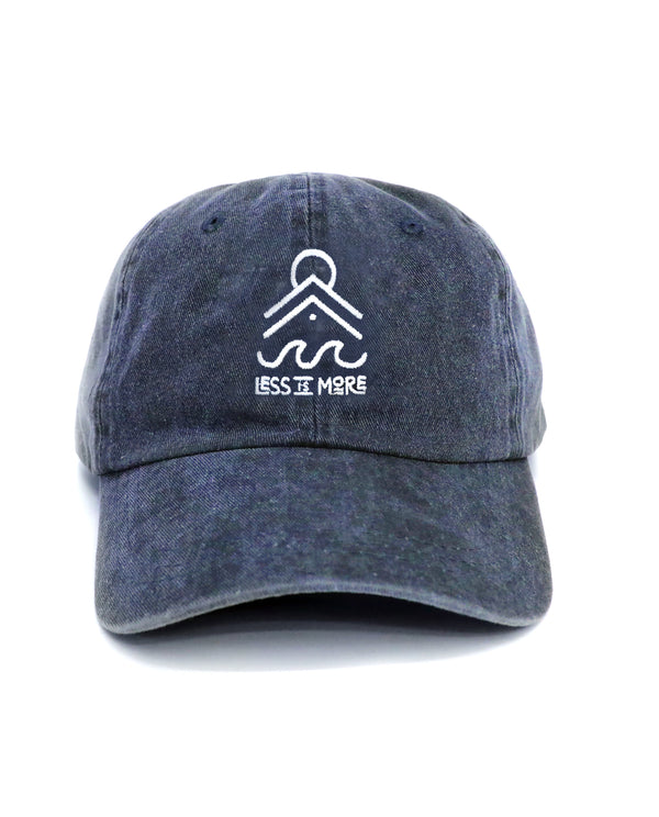 Less is More Relaxed Hat (Washed Navy)