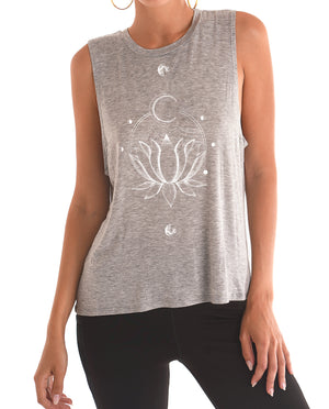 Lunar Lotus Sleeveless (Heather Gry)