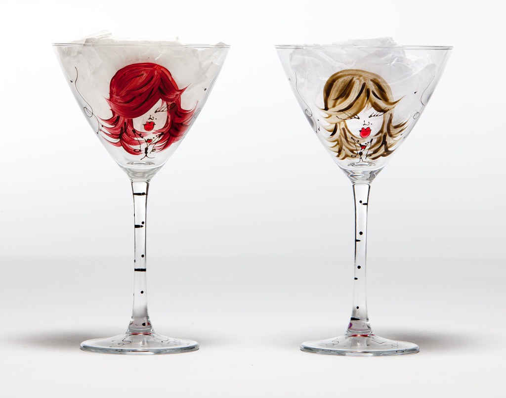 Personalized Martini/Cosmo Glasses