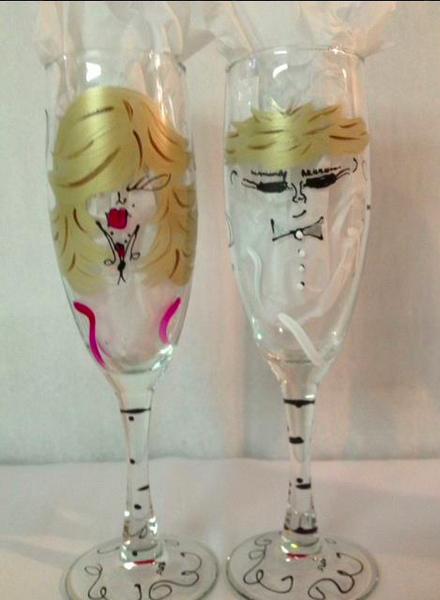 Personalized Champagne Flute Glasses