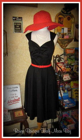 Hostess Dress in black
